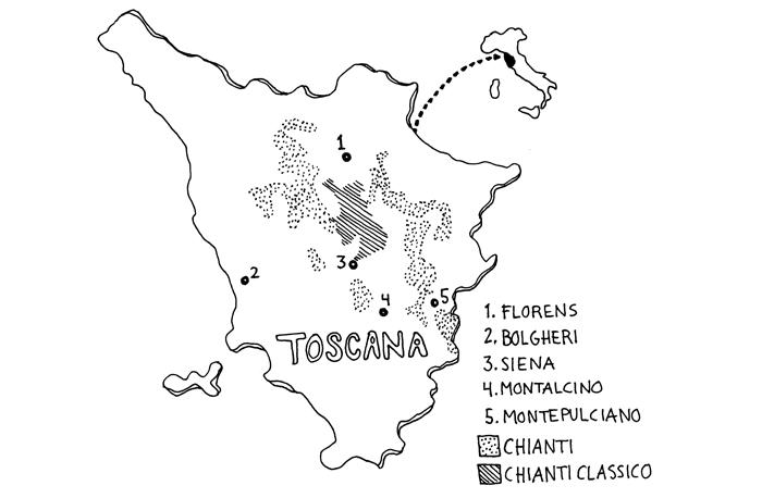 Toscana vinkarta